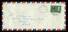 BRITISH SOLOMON Is.1965 AIRMAIL...AUKI...3d CLUB SOLO FRANKING