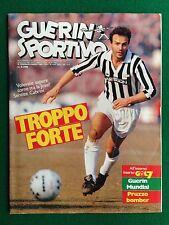 GUERIN SPORTIVO 1986 n 9 con GUERIN MUNDIAL GERMANIA O. SCOZIA + Poster TORINO