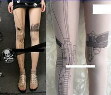 Urban Print Resident Evil Tomb Raider Cat Woman Gun Sexy Cult Tights 8 10 12 14