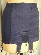 vintage Blue open Girdle pinup Heavy burlesque 50's garter M boned France corset