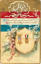 """1909 Grand Army Of The Republic GAR """"Pride and Glory and Honor"""" Postcard"""