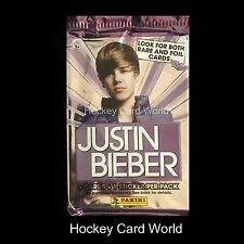 (HCW) 2010 Panini Justin Bieber Collectors Card Pack - 5 Cards + 1 Sticker