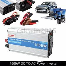 New 1500W Auto Power Inverter DC 12V to AC 220V Travel Converter Vehicle Adapter