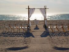 Beach Wedding Bamboo Arch Kit With Fabric Draping