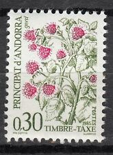 TIMBRE TAXE  ANDORRE FRANCE NEUF  N° 55  *  BAIES SAUVAGES