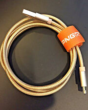 Gold Braided USB Lightning Cable Data Sync Charger Cord Apple iPhone 6 6s Plus