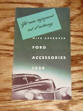 1939 Ford Car Approved Accessories Sales Brochure 39