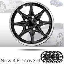 New 16 inch Black Hubcaps Wheel Covers Full Lug Skin Hub Cap Set 522 For Mazda