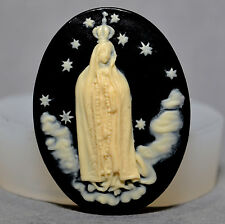 VIRGIN MARY GUADALUPE Cupcake polymer clay chocolate resin fimo mold SILICONE