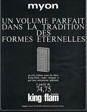 PUBLICITE ADVERTISING  1966   MYON  briquet  super KING FLAM