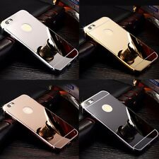 NEW Luxury Aluminum Ultra-thin Mirror Metal Case Cover for iPhone 4 5 6 7 7Plus