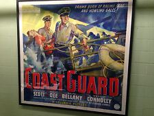 "1939 COAST GUARD One of a Kind 81""x81"" Original Movie Poster"