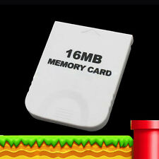 16MB 16M Practical Memory Card for Nintendo Wii Gamecube GC NGC Game White NEW