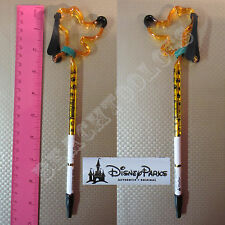 New Authentic Original Disney Yellow Pluto Outline Stick Pen With Cap - Gift