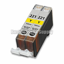 2 YELLOW CLI-221 Y CLI-221Y Ink Tank for Canon Printer Pixma iP3600 iP4600 NEW