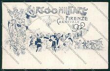 Militari Reggimentale Firenze Carnevale cartolina QQ7813