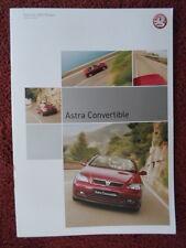 VAUXHALL Astra Convertibles UK Market brochure 2003 1.6i 1.8i 2.2i - Bertone