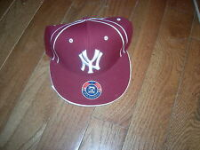New York Yankees RARE MAROON 1961 COOPERSTOWN COLLECTION sz7 Wool-Blend Cap