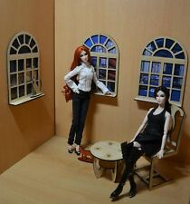 Windows for Dolls.1/6 1:6 dollhouse miniature Dolls furniture FR 3 pcs