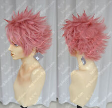 Fairy Tail Natsu Dragneel Anime Costume Cosplay wig +Free Wig CAP+Track Number
