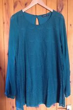 Green Lace Primark Tunic Dress/Size 14/Jade/Occasion Wear/60's Baby Doll Shape