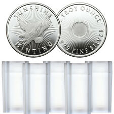 1 oz Sunshine Silver Rounds - 100 oz Total .999 fine (New, Lot of 100)