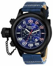 Invicta 54mm Men's 'Russian Diver' Quartz SS and Leather Watch 22290