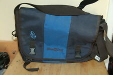 Timbuk2 15 in wide Messenger Bag with Blue Coat Logo Blue Light Blue Made in SF