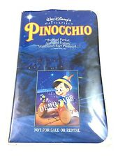 Disney Pinocchio DEMO VHS Rare