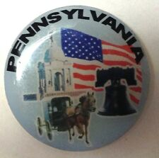 PENNSYLVANIA ROUND LAPEL PIN HAT TAC NEW