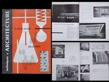 TECHNIQUES ET ARCHITECTURE 1958 PLASTIQUES, BERLIN, BAUMGARTEN, LE CORBUSIER