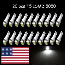 20x T5 White LED Bulb flat Dashboard Gauge Wedge  37 58 70 73 74 T5 286 37 5050