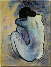 Blue Nude by Pablo Picasso - Hand Painted Abstract Figurative Oil Painting