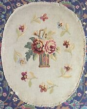 ANTIQUE 19C AUBUSSON FRENCH HAND WOVEN TAPESTRY CHAIR COVER PANEL