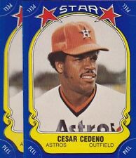 1981 FLEER BASEBALL STICKER LOT (2) CESAR CEDENO ASTROS NMMT *52951