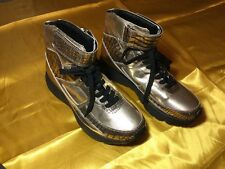 Men's Alejandro Ingelmo Metallic High Top Leather Sneakers Size 8.5 ( Italy 42)