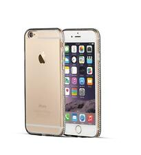 Luxury Ultra Thin Crystal Diamond Bling Gel Case Cover for iPhone 4/4S/5/5S/6/6S