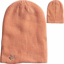 Fox Racing Womens Reborn Reversible Slouch Beanie Hat Cap Orange Sherbet Girls