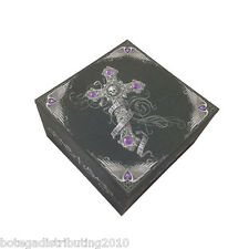 Skull Cross True Love Box W/ Mirror Trinket Box Anne Stokes Collection