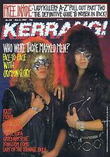 CRIMSON GLORY Kerrang + PULL OUT no. 238 May 13 1989