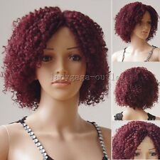 HOT Short Bob Curly Wavy Lace Front Wigs U Part Glueless Synthetic Hair Black w2