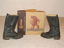 CHIPPEWA 12 INCH BLACK RALLY MOTORCYCLE BOOTS, Size 5 1/2 EE, style 27862