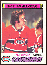 1977 78 OPC O PEE CHEE 100 KEN DRYDEN AS NM MONTREAL CANADIENS HOCKEY CARD