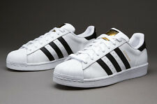 Adidas white superstar shoes with golden logo for women with box