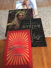 Lot Of Britney Spears Tourbooks Including Signed Femme Fatale