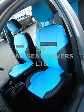 i - TO FIT A CITROEN C4 CACTUS CAR, SEAT COVERS, LEATHERETTE, SKYBLUE/BLACK