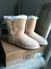 Authentic New In Box Ugg Bailey Button Boots Women's Sz 9 In Sand Color