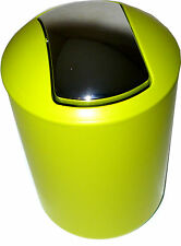 Stylish Small Plastic Lime Green Waste Bin 30cm x 19cm