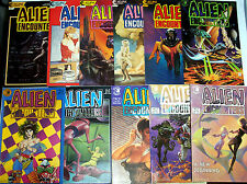ALIEN ENCOUNTERS #1-11 (NM-) 1982 Many Contributing Creators! 1985 Sci-Fi