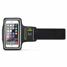 iLuv UP1ARMBBK Adjustable sports armband w/reflective frame for night, iPhone 6